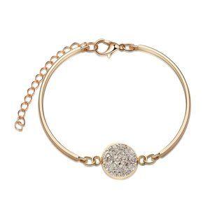 3/$20 New Gold & Charcoal Druzy Bracelet